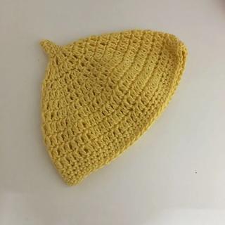 ハンドメイド  新生児用 どんぐり帽子(帽子)