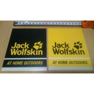 ジャックウルフスキン(Jack Wolfskin)のステッカー (ジャックウルフスキン) 2枚セット (登山用品)
