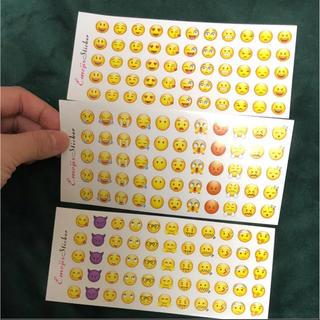 アイフォーン(iPhone)のiPhone 絵文字 シール 3枚セット ごほうびシール(シール)