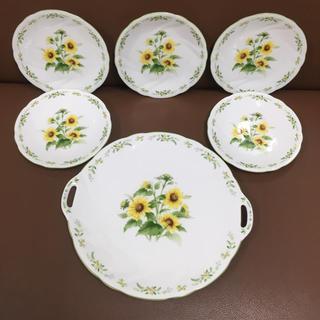ニッコー(NIKKO)のパーティーセット (ひまわり)大皿一枚 小皿五枚   NIKKO製品(食器)