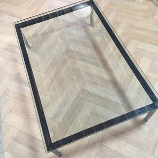 カッシーナ(Cassina)の美品 カッシーナ lc10-p ガラステーブル 約40万相当(ローテーブル)