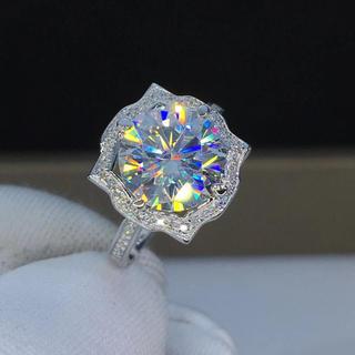 【贅沢3カラット】輝く モアサナイト ダイヤモンド リング(リング(指輪))