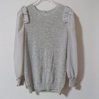 リランドチュール(Rirandture)の未使用*Rirandture 袖シースルーフリルニット(ニット/セーター)