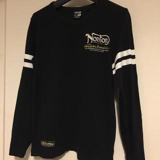 ノートン(Norton)のリプ ブラック ロングTシャツ バックプリント Norton M ノートン(Tシャツ/カットソー(七分/長袖))