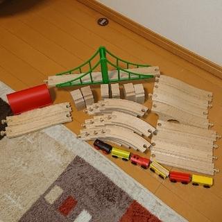イケア(IKEA)のIKEA  木製電車レールセット(電車のおもちゃ/車)