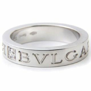 ブルガリ(BVLGARI)のブルガリ BVLGARI   ダブルロゴ ホワイトゴールド リング 15号  (リング(指輪))