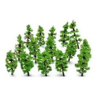 ミニチュアツリー 10本 ☆ ジオラマに(模型製作用品)