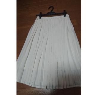 ストラ(Stola.)の【値下げ】オフホワイトのプリーツスカート(ロングスカート)