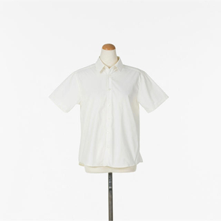 男装用プレーンワイシャツ半袖 レディース Mサイズ(コスプレ用インナー)