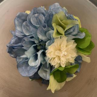 ★ toytoy356 コサージュ 髪飾り ブルー グラデーション(コサージュ/ブローチ)