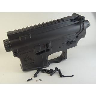 シーマ(CYMA)のCYMA KAC刻印 M4/M16用メタルレシーバー グレー(電動ガン)