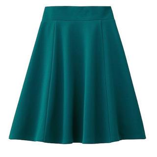 ジーユー(GU)のジーユー バックギャザーフレアスカート(ひざ丈スカート)