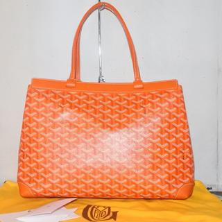 ゴヤール(GOYARD)のゴヤール バッグ トートバッグ ベルシャスPM 新作 オレンジ 中古 美品 正規(トートバッグ)