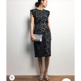 コルテスワークス(CORTES WORKS)のcortesworks ワンピース ドレス ブラック 38サイズ(ミディアムドレス)
