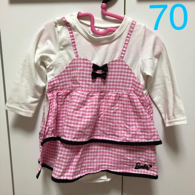 d2167924aad17 Barbie - Barbie バービー 70 女の子 子ども服 ワンピース の通販 by て ...