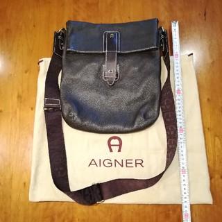 アイグナー(AIGNER)の✨AIGNERアイグナー 焦げ茶色の本革ショルダーバッグ♪(その他)