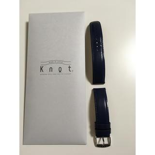 ノット(KNOT)のknot 腕時計 ベルト ネイビー(レザーベルト)
