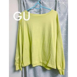 ジーユー(GU)のヘビーウェイトT/カットソー  美品(Tシャツ(長袖/七分))