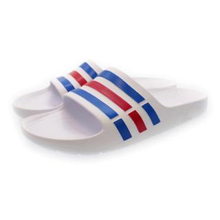 アディダス(adidas)のアディダス シャワーサンダル ホワイト×ブルー(サンダル)