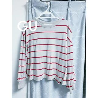 ジーユー(GU)のsaaa様専用ボーダークルーネックT/カットソー 美品(Tシャツ(長袖/七分))