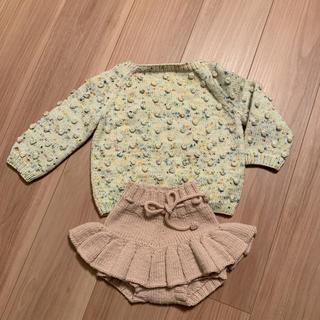 キャラメルベビー&チャイルド(Caramel baby&child )のmisha & puff ニットスカート 12-18m ピンクDUNE(スカート)