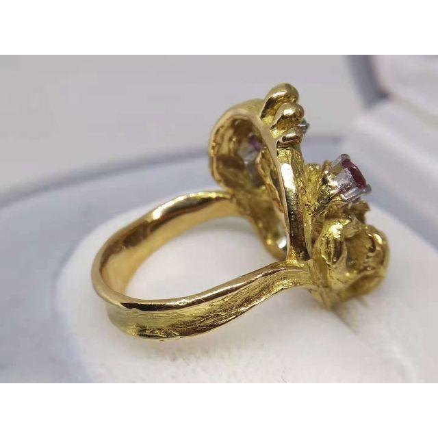 [岩倉康二]Pt900/K18マルチカラー デザインリング 指輪 レディースのアクセサリー(リング(指輪))の商品写真