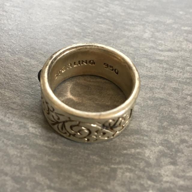 値下げ!ブラックストーン リング* メンズのアクセサリー(リング(指輪))の商品写真