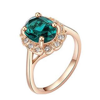 AAAランク ダイヤモンドcz 17号 リング 指輪 ピンクゴールド (リング(指輪))