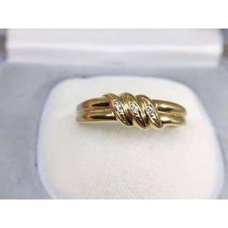 K18 ダイヤモンド0.03ctデザインリング 指輪(リング(指輪))