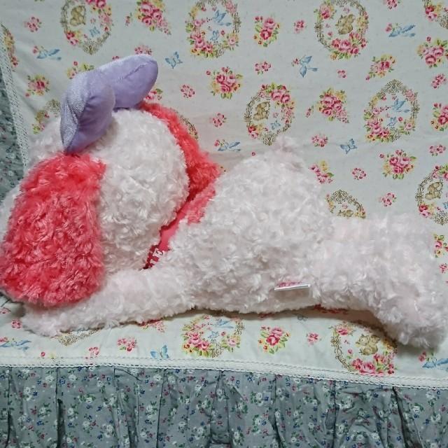 SNOOPY(スヌーピー)のスヌーピー ふわふわ くたっと ビッグ ぬいぐるみ ピンク エンタメ/ホビーのおもちゃ/ぬいぐるみ(ぬいぐるみ)の商品写真