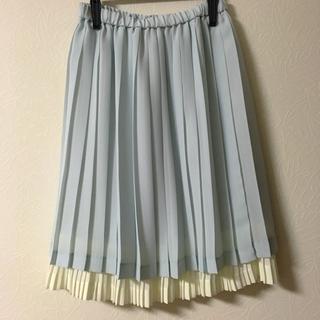 グラスライン(Glass Line)の美品 春服 プリーツスカート 水色(ひざ丈スカート)