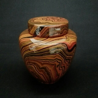 sakura 様専用 143、五色釉柄 茶壺 茶入れ 会津康門作 (漆芸)