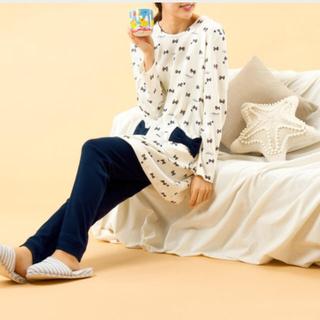 ナルエー(narue)の新品未使用☆NARUE☆ナルエー リボンデザイン ルームウェア パジャマ(ルームウェア)