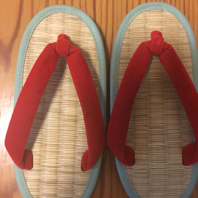 ケンコーミサトっ子 18cm 中古品 キッズ/ベビー/マタニティのキッズ靴/シューズ (15cm~)(下駄/草履)の商品写真