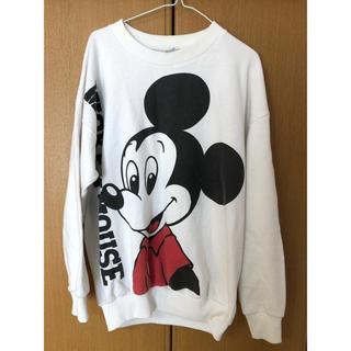 Disney - USA製 ミッキー mickey ビンテージ スウェット L