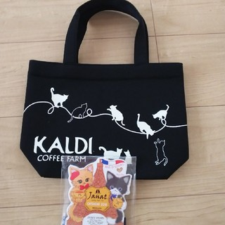 カルディ(KALDI)のカルディ2019ネコの日バッグ&カレンダー(トートバッグ)
