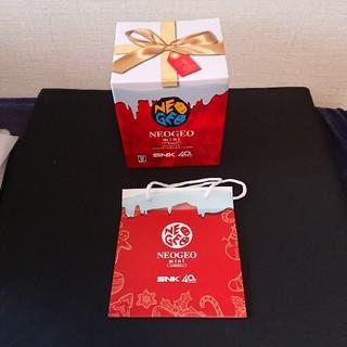 ネオジオ(NEOGEO)の新品未使用 ネオジオミニ クリスマス 紙袋付き(家庭用ゲーム本体)