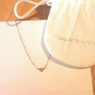サマンサシルヴァ(Samantha Silva)のSamantha Silvaピンクゴールドダイヤモンドハートのネックレス(ネックレス)