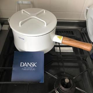ダンスク(DANSK)のDANSK ホーロー片手鍋 18cm 新品未使用(鍋/フライパン)