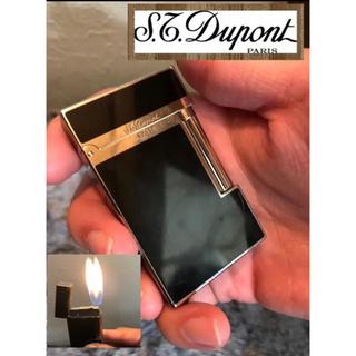 エステーデュポン(S.T. Dupont)のST デュポン ライター ライン2 モンパルナス ブラックラッカー  Wバーナー(タバコグッズ)