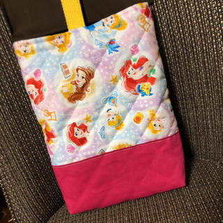 ディズニー(Disney)の上履き入れ プリンセス  女の子 ハンドメイド (シューズバッグ)