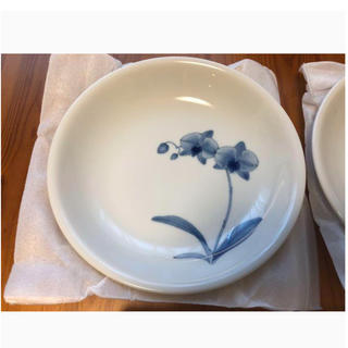 香蘭社 染付二花・ペアパスタ皿 2枚組(食器)