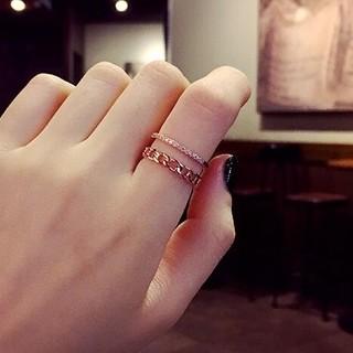 ☞金属アレ対応9号~20号♥ジルコニア※フリーサイズリング★指輪ピンクゴ-ルド(リング(指輪))