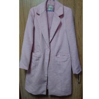イートミー(EATME)の使用感あり/ずっと前の福袋のコート:ピンク(ロングコート)