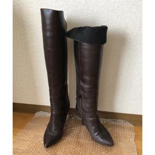 ギンザカネマツ(GINZA Kanematsu)の銀座カネマツ×Anecan ロングブーツ ニーハイブーツ 2way 21.5cm(ブーツ)