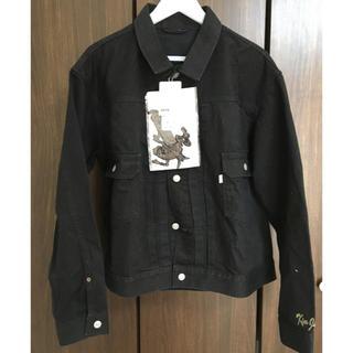 キムジョーンズ(KIM JONES)のKIM JONES × GU denim jacket L デニムジャケット(Gジャン/デニムジャケット)