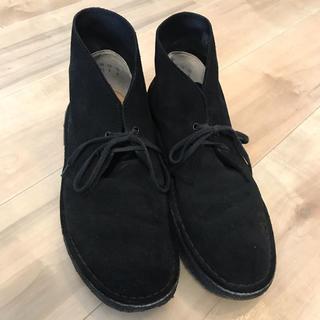 クラークス デザートブーツ 黒 ブラック 26㎝