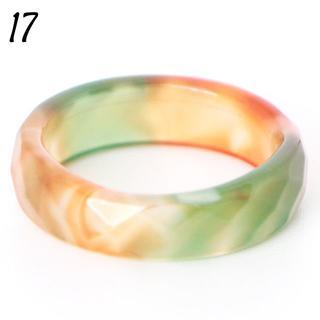リング 17号 天然石 瑪瑙 アゲート 多面 ミックス 大きいサイズ 26(リング(指輪))