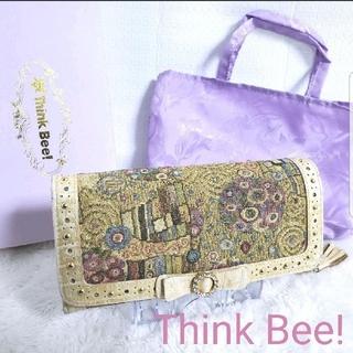 シンクビー(Think Bee!)の【大特価】Think Bee! シンクビー 長財布 ゴールデンクリムト(幾何学)(財布)