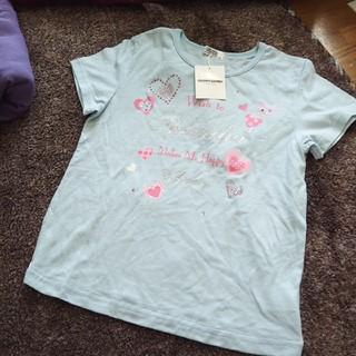 クラウンバンビ(CROWN BANBY)の新品クラウンバンビ ハートデザイン半袖Tシャツ 140 女の子(Tシャツ/カットソー)